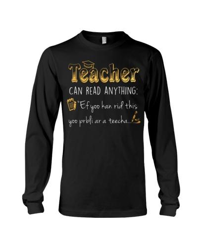 TEACHER CAN READ ANYTHING