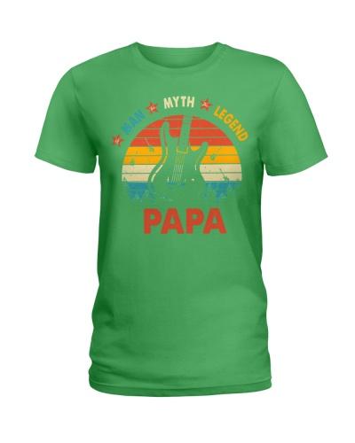 Guitar Man Myth Legend Papa Best Gift Father Dad