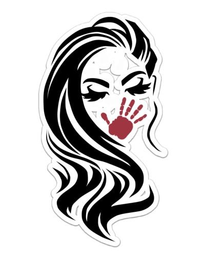 Native American Women Red Hand