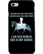 I Am Her Human She Is My Horse Phone Case thumbnail