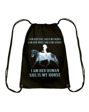 I Am Her Human She Is My Horse Drawstring Bag thumbnail