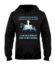 I Am Her Human She Is My Horse Hooded Sweatshirt thumbnail