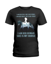 I Am Her Human She Is My Horse Ladies T-Shirt thumbnail