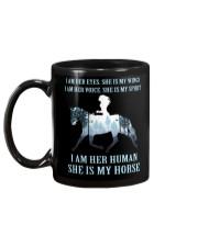 I Am Her Human She Is My Horse Mug back