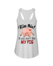 Kiss This If You Don't Like My Pig Ladies Flowy Tank thumbnail