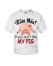 Kiss This If You Don't Like My Pig Youth T-Shirt thumbnail