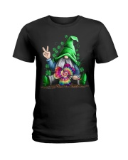 Hippie Gnome happy St Patrick day Ladies T-Shirt front