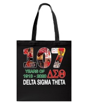 107 year of 1913 - 2020 Delta Sigma Theta Tote Bag tile