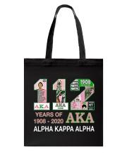 112 year of 1908 - 2020 Alpha Kappa Alpha Tote Bag thumbnail