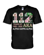112 year of 1908 - 2020 Alpha Kappa Alpha V-Neck T-Shirt thumbnail