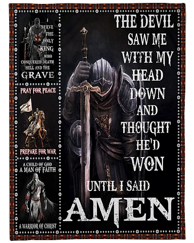 The Devil saw me with my head down- Knight Templar