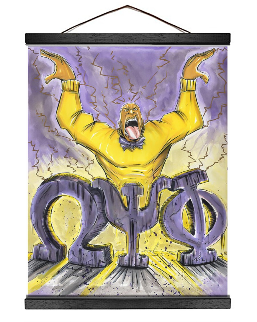 Omega Psi Phi Tu-Kwon Thomas 16x20 Black Hanging Canvas