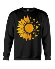 sunflower with honey bee  Crewneck Sweatshirt thumbnail