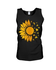 sunflower with honey bee  Unisex Tank thumbnail