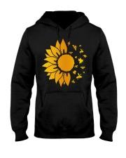 sunflower with honey bee  Hooded Sweatshirt thumbnail