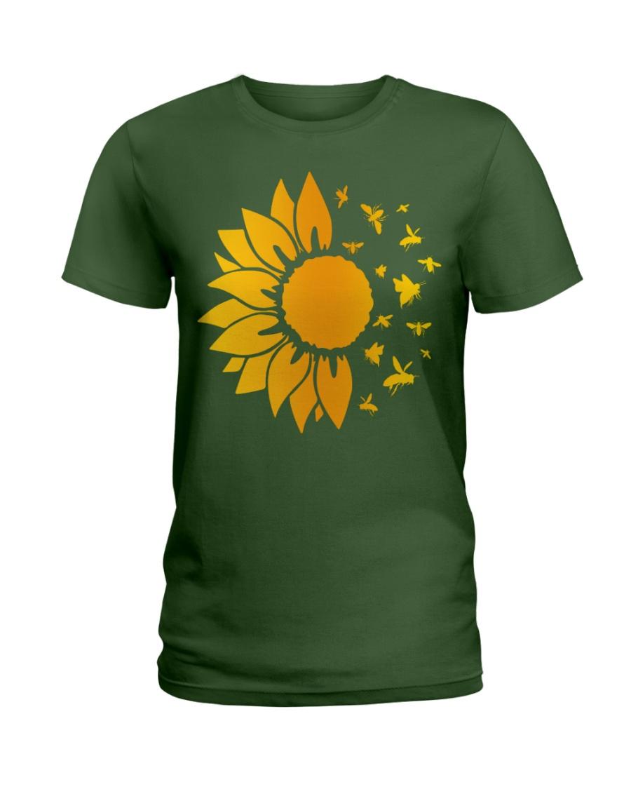 sunflower with honey bee  Ladies T-Shirt