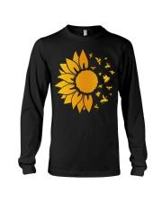 sunflower with honey bee  Long Sleeve Tee thumbnail