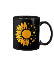 sunflower with honey bee  Mug thumbnail