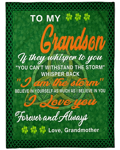 I love you- my grandson Irish gift of grandmother