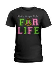 Alpha Kappa Alpha for life Ladies T-Shirt front