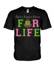 Alpha Kappa Alpha for life V-Neck T-Shirt thumbnail