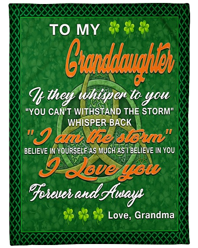 TO MY GRANDDAUGHTER IRISH GIFT OF GRANDMA