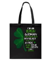 I'm an Irish woman with a mouth can't control  Tote Bag thumbnail