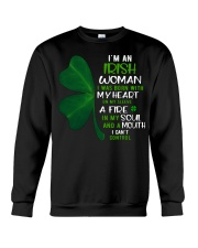 I'm an Irish woman with a mouth can't control  Crewneck Sweatshirt thumbnail