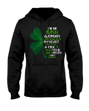 I'm an Irish woman with a mouth can't control  Hooded Sweatshirt tile