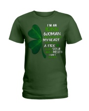 I'm an Irish woman with a mouth can't control  Ladies T-Shirt thumbnail
