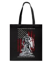 Knight Templar Crusader Warrior American Flag Tote Bag thumbnail