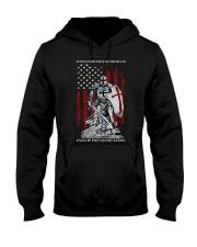 Knight Templar Crusader Warrior American Flag Hooded Sweatshirt thumbnail