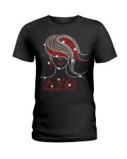Afro Girls Delta Sigma Theta Sorority Ladies T-Shirt front