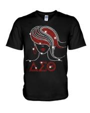 Afro Girls Delta Sigma Theta Sorority V-Neck T-Shirt thumbnail