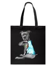 Happy st patrick shamrock pitbull dog  Tote Bag thumbnail