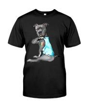 Happy st patrick shamrock pitbull dog  Classic T-Shirt thumbnail