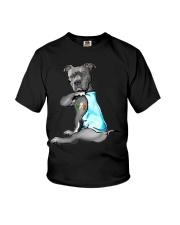 Happy st patrick shamrock pitbull dog  Youth T-Shirt thumbnail