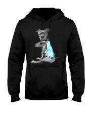 Happy st patrick shamrock pitbull dog  Hooded Sweatshirt thumbnail