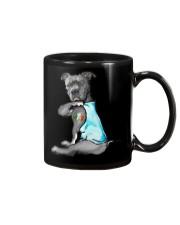Happy st patrick shamrock pitbull dog  Mug thumbnail