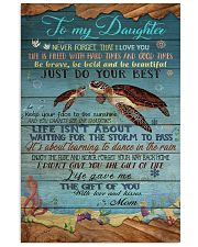 MOM TO DAUGHTER - TURTLE  24x36 Poster front