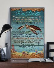 MOM TO DAUGHTER - TURTLE  24x36 Poster lifestyle-poster-2