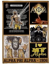 """alpha phi alpha - 1906 Large Fleece Blanket - 60"""" x 80"""" front"""