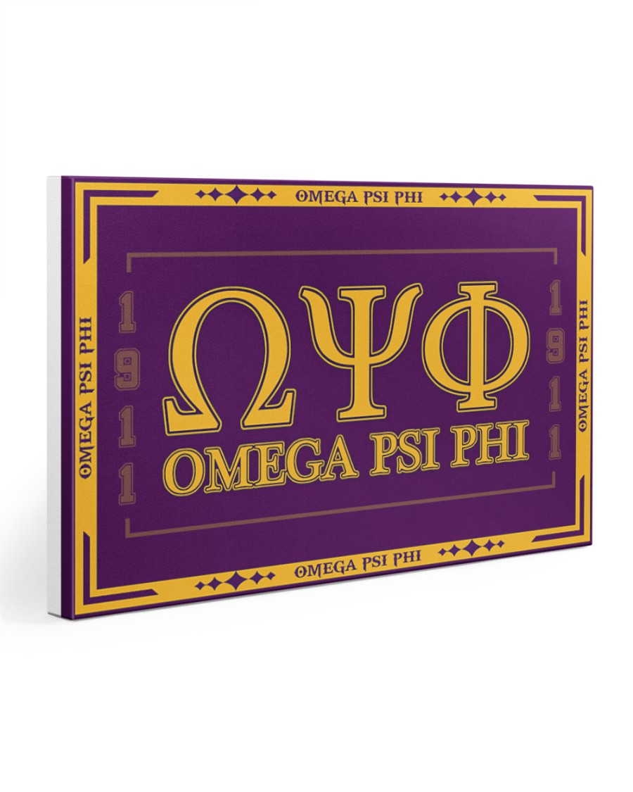 Omega Psi Phi 30x20 Gallery Wrapped Canvas Prints