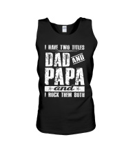 I have two titles Dad and papa Unisex Tank thumbnail