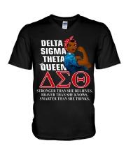 Delta Sigma Theta Queen V-Neck T-Shirt thumbnail
