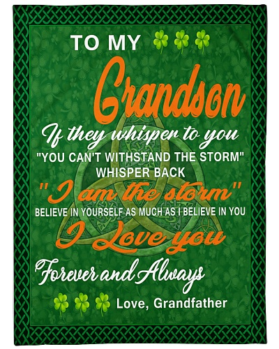 i love you- my grandson irish  gift of grandfather