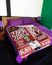 "Kappa Alpha Psi Large Fleece Blanket - 60"" x 80"" aos-coral-fleece-blanket-60x80-lifestyle-front-01"