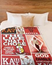 "Kappa Alpha Psi Large Fleece Blanket - 60"" x 80"" aos-coral-fleece-blanket-60x80-lifestyle-front-02"