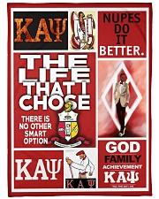 "Kappa Alpha Psi Large Fleece Blanket - 60"" x 80"" front"