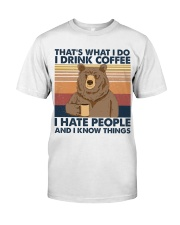 Camping That's What I Do Classic T-Shirt front